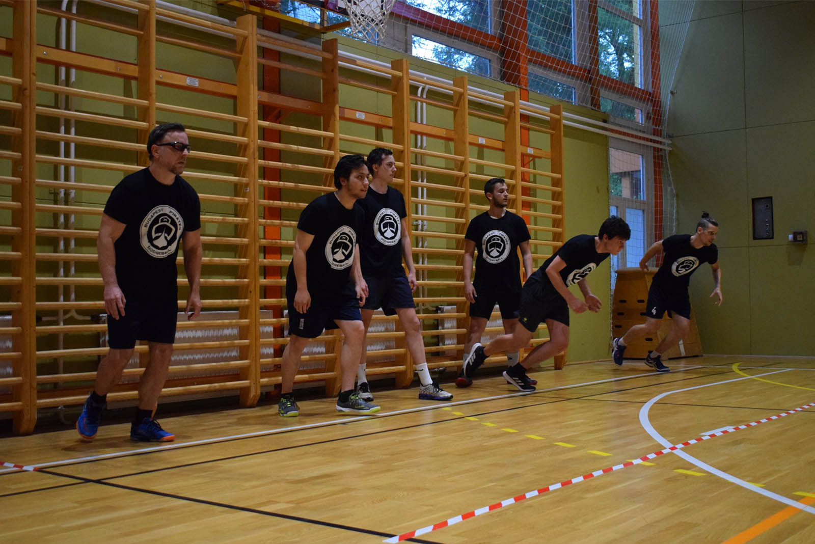 Budapest Pirates Dodgeball Klub kidobós